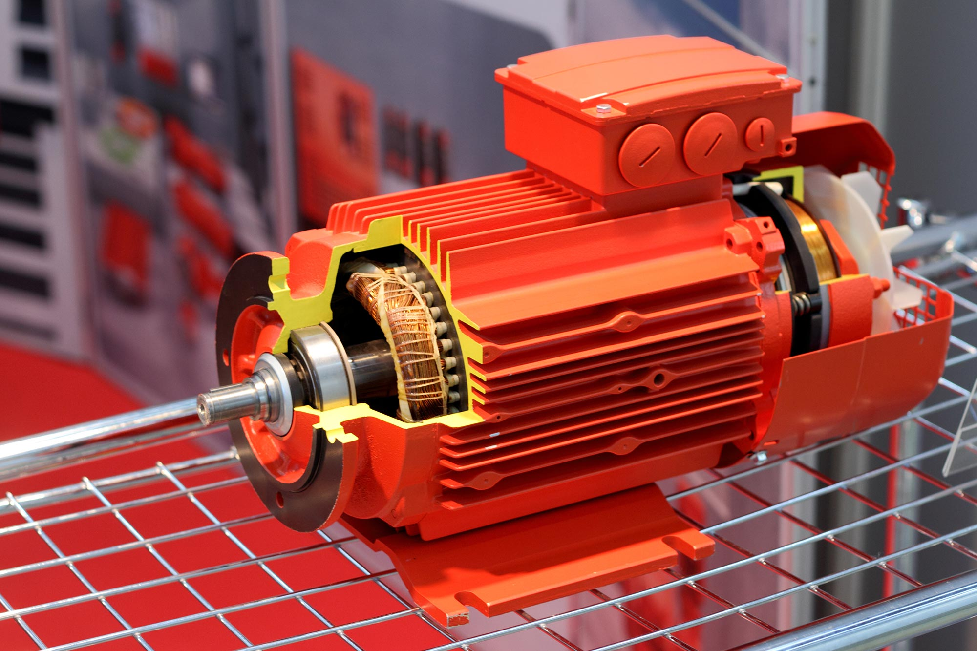 Red electric motor